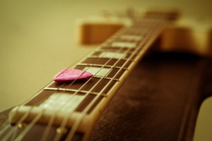 Guitar with Pick