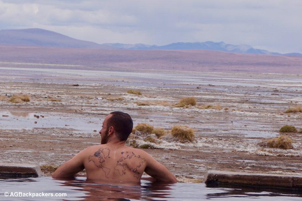 Bain thermal Sud Lipez Uyuni Bolivie