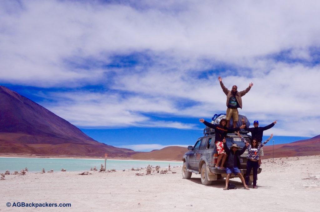 Best birthdau gift Ever with the best Band ever - Laguna Verde - Sud Lipez - Bolivie