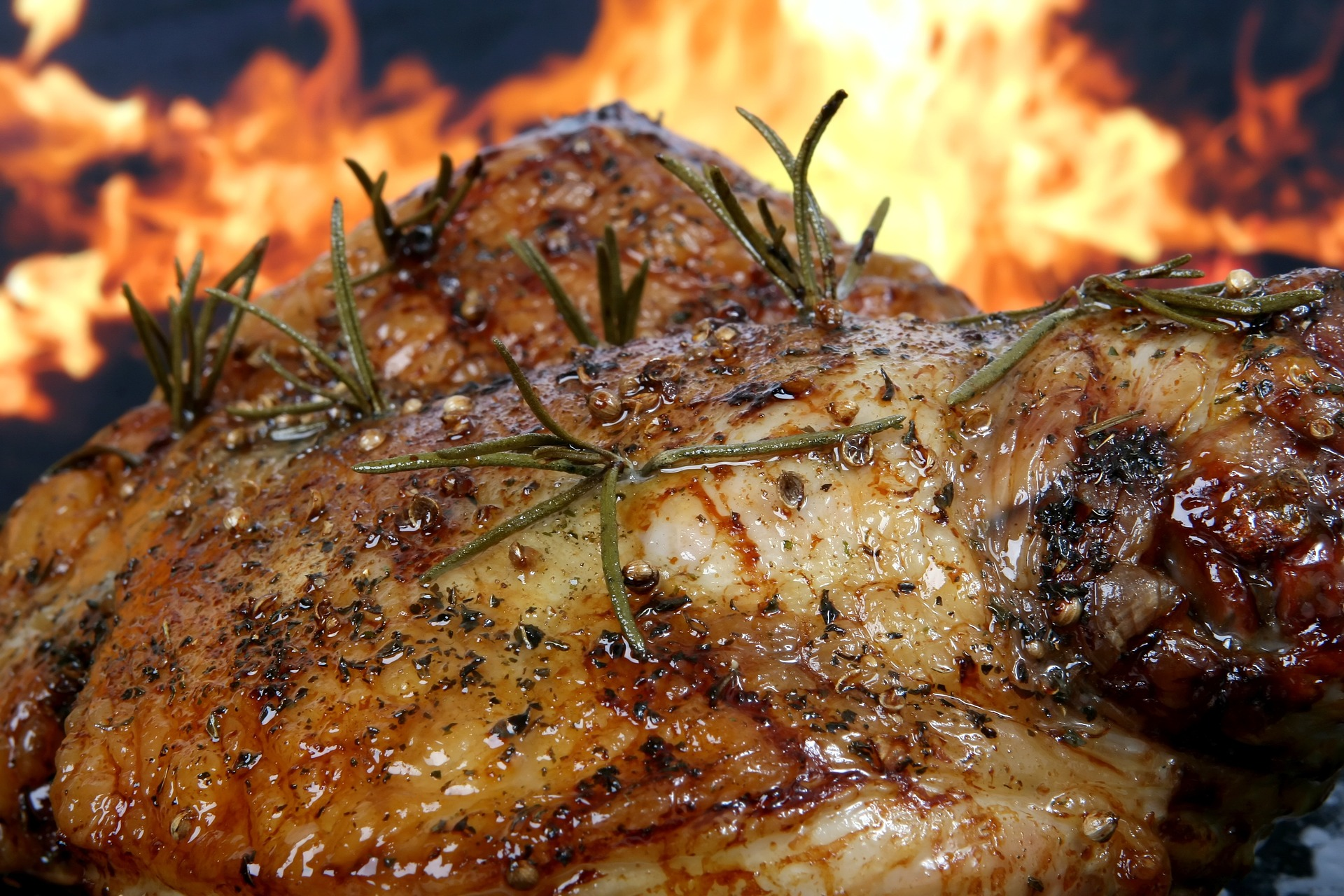 flame grilled whole chicken