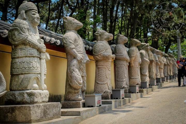 Estatuas del horóscopo chino.