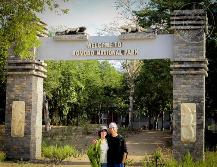 Entrada al Parque Nacional de Komodo.