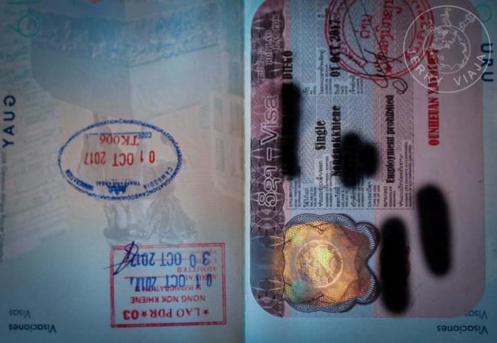 Visa de Laos.