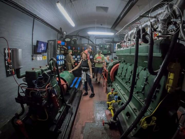 Dentro de la antigua batería de guerra O'Hara's Battery