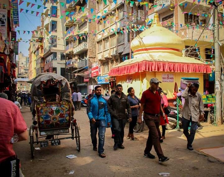 Rickshaw en Thamel, Khatmandu, Nepa