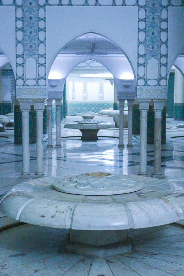 Sala de Abluciones Mezquita de Hasan II, Casablanca, Marruecos