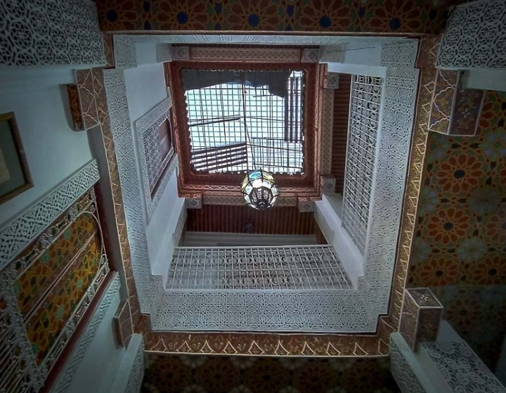 Patio interior riad marruecos