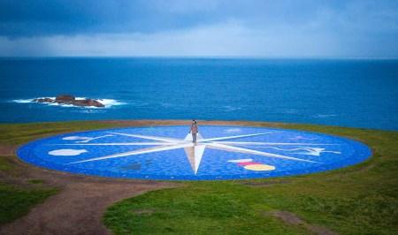 qué ver en galicia Costa da Morte, Rosa de los vientos, La Coruña