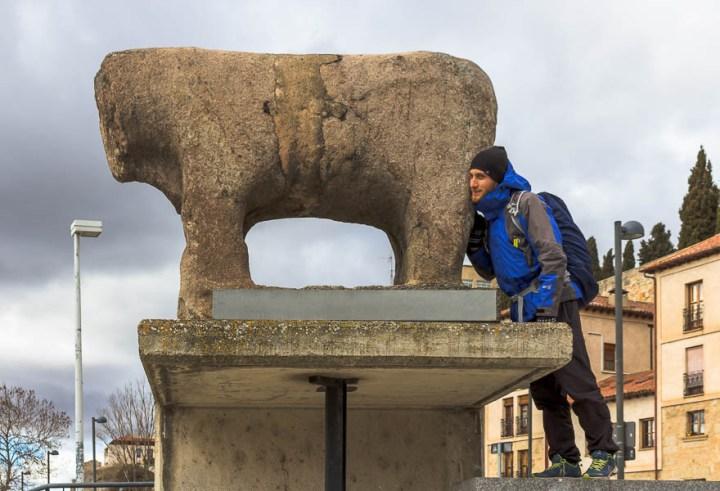 Estatua Verraco del Puente Romano. Salamanca, Castilla y León, España
