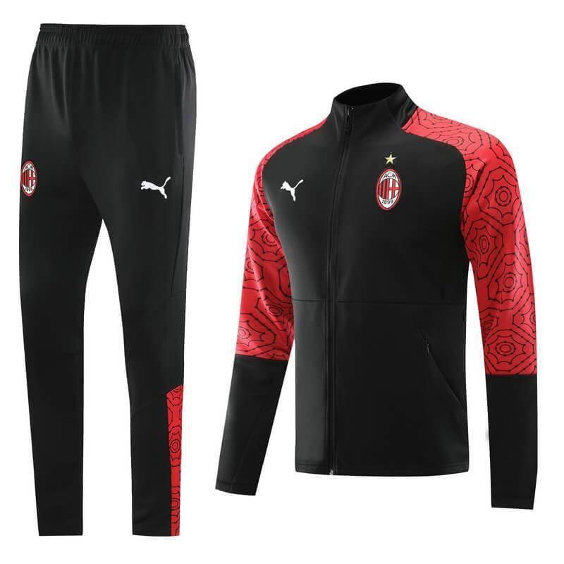 20/21 AC Milan Red/Black Tracksuit - Jersey Loco