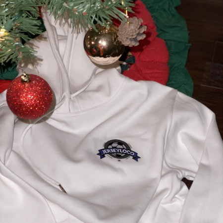 Jersey Loco White Hoodie Embroidered - Jersey Loco