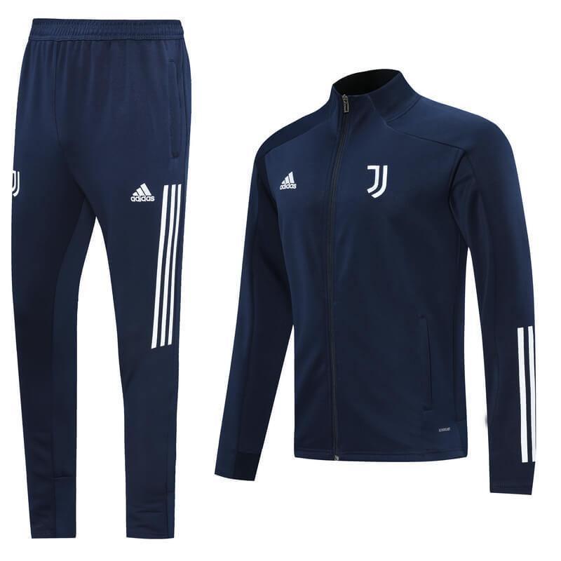 20/21 Juventus Royal Blue Tracksuit - Jersey Loco