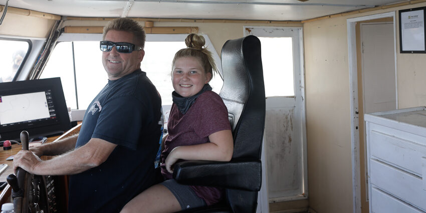 One of our whale watching boat captains and his beautiful daughter