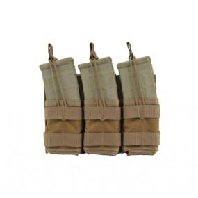 Modular (MOLLE) Rifle Magazine Pouch, Triple, Type 2, AR M4 M16