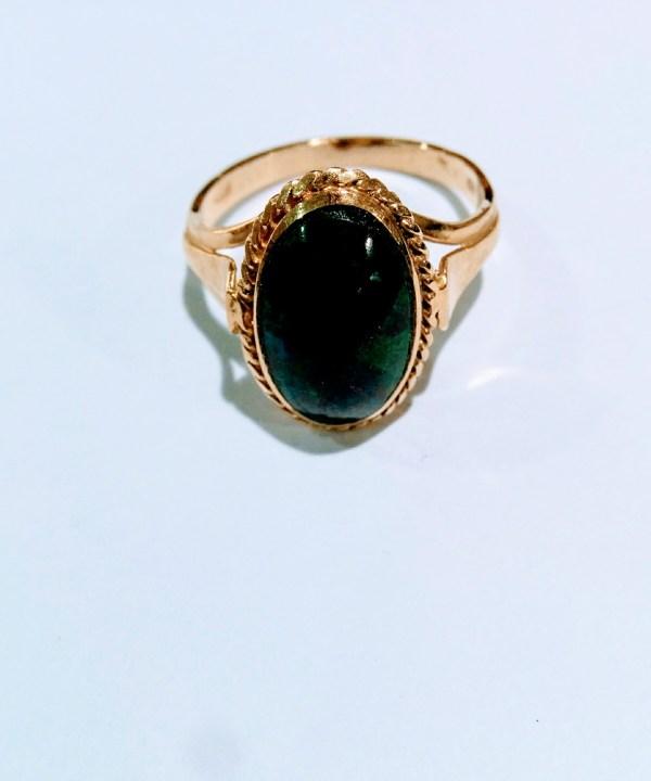 Eilat Stone Ring 14k Gold Israeli Rings - Jewish Jewelry