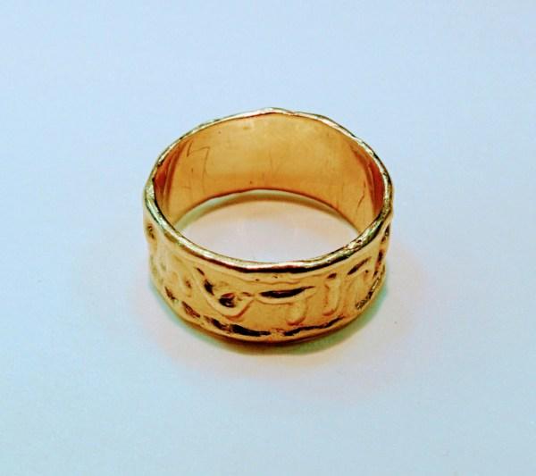 Wedding Bands Hebrew Ring Harei Mekudeshet Li
