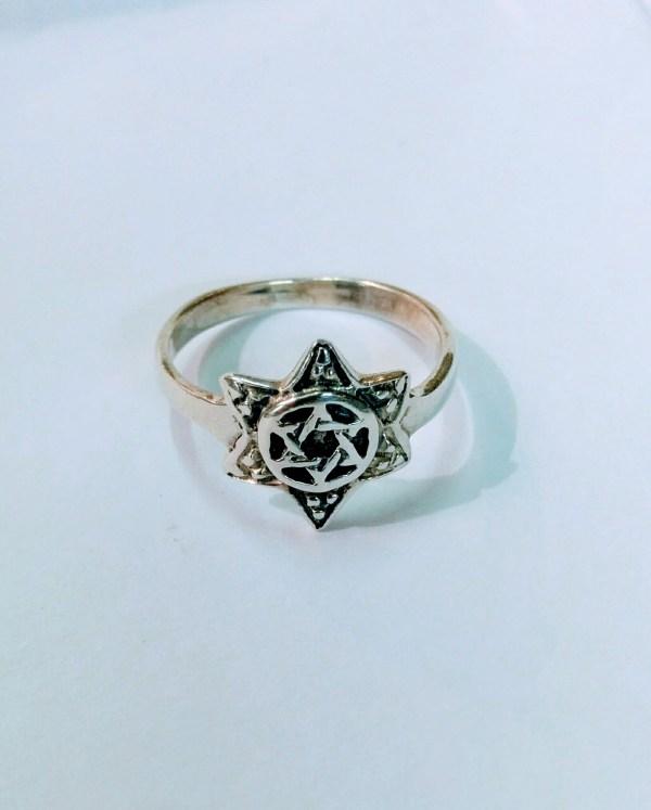 Star Of David 3d Ring Silver Jewish