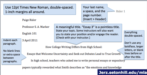 use a header with your last name and the page number a title block mla style format
