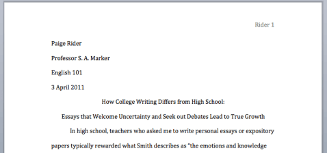 Starting Your Research Paper: Home