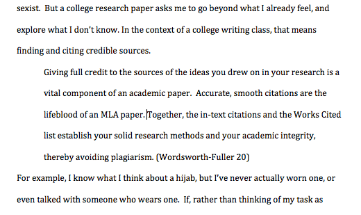 long quotes research paper