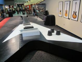 I had to use my imagination a bit to see this as the world's largest playable guitar.