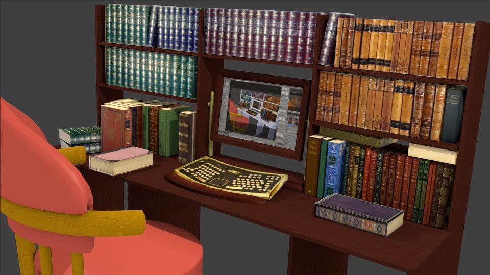 Fantasy Workspace -- Blender 3D