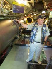 Our guide Carl walks us through exactly what was involved in the loading, arming, and firing of a torpedo.
