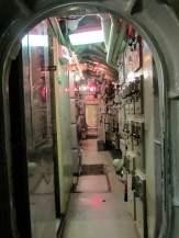 Empty hallway, USS Requin behind-the-scenes tour, Carnegie Science Center.