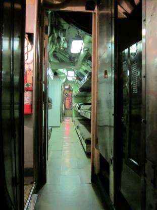 Corridor detail, USS Requin behind-the-scenes tour, Carnegie Science Center.