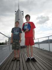 Paying respects to the USS Requin, from our behind-the-scenes four at the Carnegie Science Center