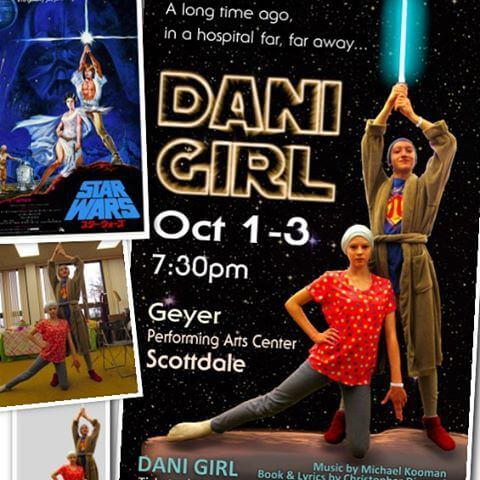 There are many Star Wars references in Dani Girl, so I made this tribute to Tom Jung's 1977 poster.