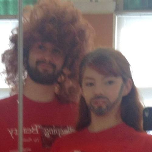 Carolyn and her friend Travis on Twin Day at summer camp.