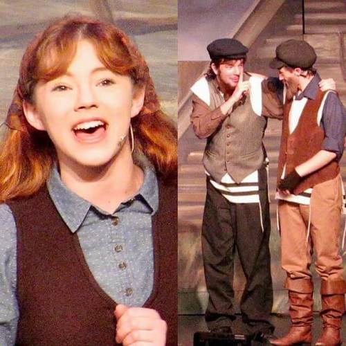 Carolyn as Hodel and Peter as Lazar in the Stage Right homeschool Fiddler on the Roof.