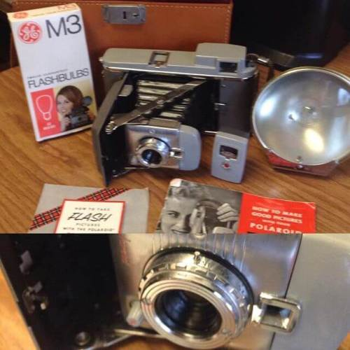 What's in this old box from the student newspaper office? Why, it's a vintage Polaroid camera.