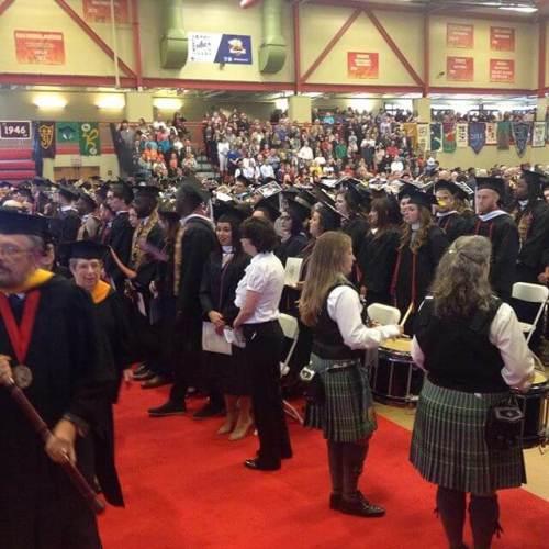 Graduation procession #classof2017