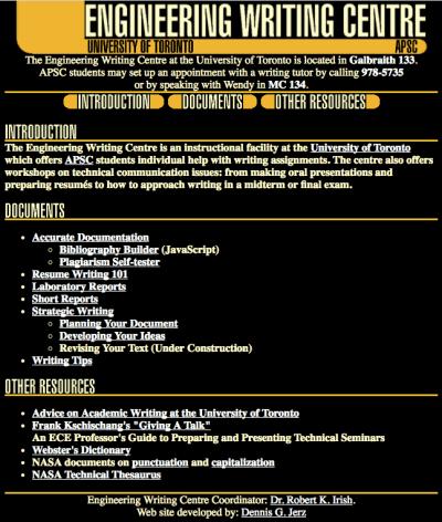 Writing essay websites university of toronto