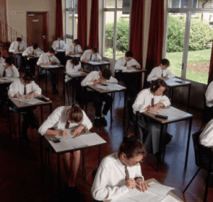 Students in a clas