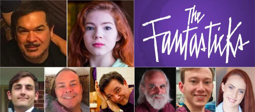 Montage showing photos of the cast members for The Fantasticks.
