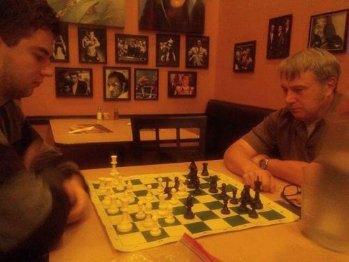 The boy plays chess with his uncle before seeing The Fantasticks.