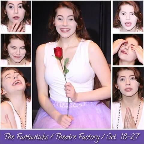 Faces the girl makes during her Luisa monologue. (Four more chances to see The Fantasticks.)