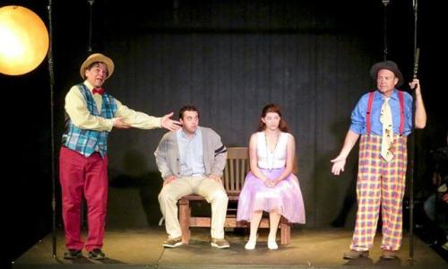 Their faces when another dad joke drops. See The Fantasticks today at 2 or next week Thu-Sun.