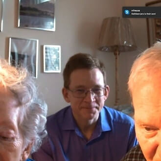 My brother set my parents up for a Mother's Day video call.