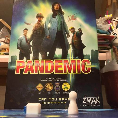 This is the first time during the pandemic that we've brought this game out. Very topical.