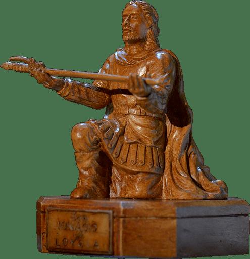 Kneeling St. Ignatius Statue