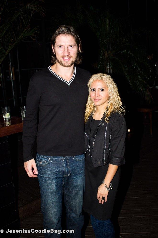 Charles Ferri (Star Vodka) with Jesenia (JGB Editor)