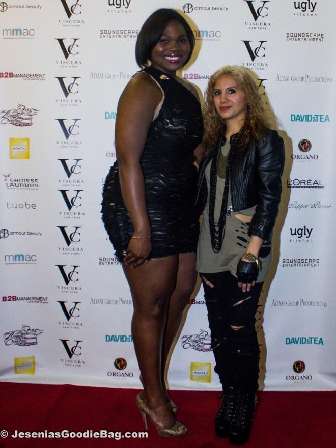 Sherita Jennings (Designer: Viscera NY) with Jesenia (JGB Edtor)