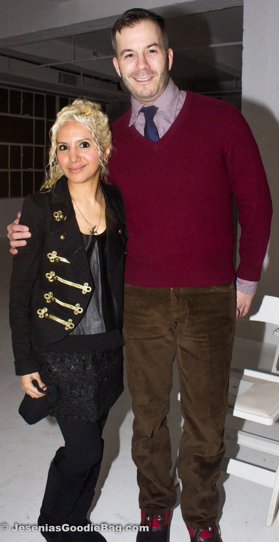 Jesenia (JGB Editor) with Marlon Gobel (Designer)