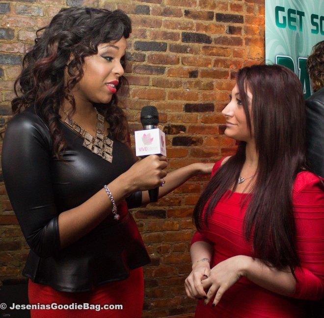 Reporter with Deena (Jersey Shore)