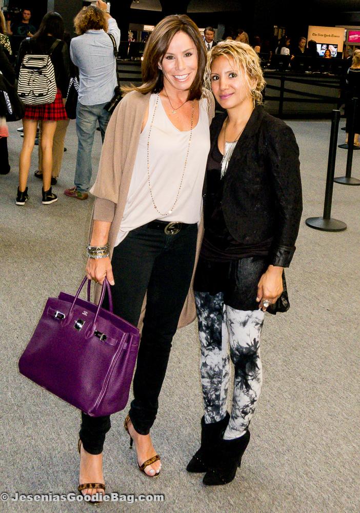 Melissa Rivers (Fashion Police) with Jesenia (JGB Editor)
