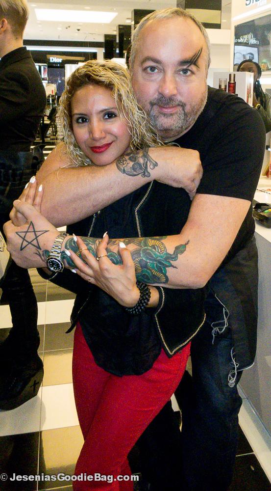 Julian Kynaston (Illamasqua) with Jesenia (JGB Editor)